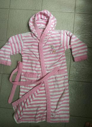Детский махровый банный халат