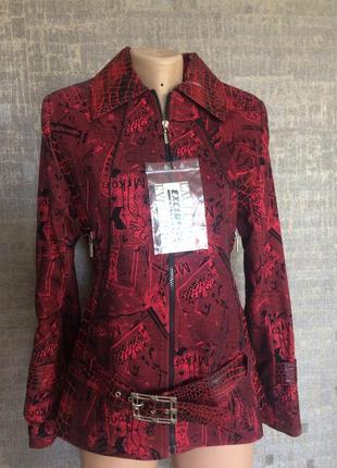 Летняя цена! курточка с плотного джинса и вставками кож зам под рептилию!