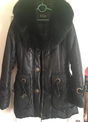 Куртка зимняя с мехом песца