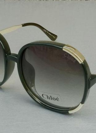 Chloe очки женские солнцезащитные большие с градиентом зеленые3 фото