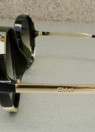 Chloe очки женские солнцезащитные большие с градиентом зеленые5 фото