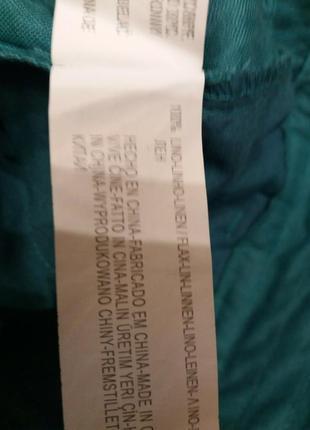 Яркие широкие брюки-бренд-bershka--10 12р лен-100      ж1510 фото