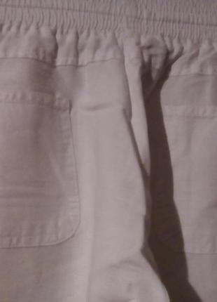Широкие натуральные брюки-40р -котон турция5 фото