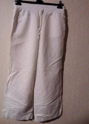 Широкие натуральные брюки-40р -котон турция7 фото