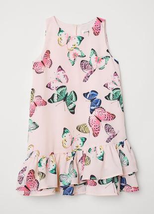 Платье с оборками h&m 9-10y (140см)