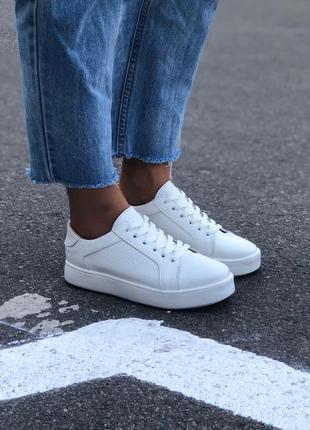 Кеды белые кожаные9 фото