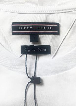 Белая мужская футболка tommy hilfiger