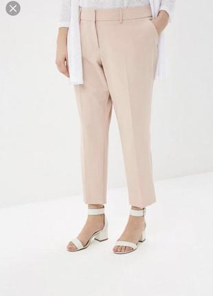 Нежно-бежевые брюки -plus-size--от-gaticceli--54р  бз