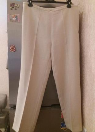 Нежно-бежевые брюки -plus-size--от-gaticceli--54р  бз2 фото