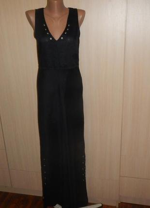 Платье в пол из натуральной ткани рами motivi р.8