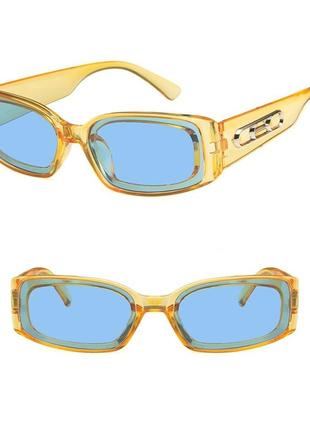 """Эксклюзивные очки. """"небесные"""" линзы в прозрачной оправе ceylon yellow (цейлонский желтый)."""