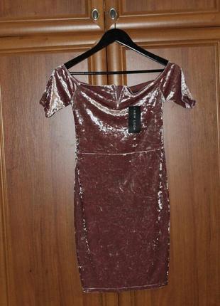 Велюровое платье new look