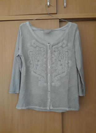 Качественная симпатичная швейцарская блузка кофта nile. оригинал