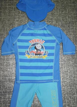 Томас комплект m&s футболка+шорты+шапочка солнцезащитный плаванье