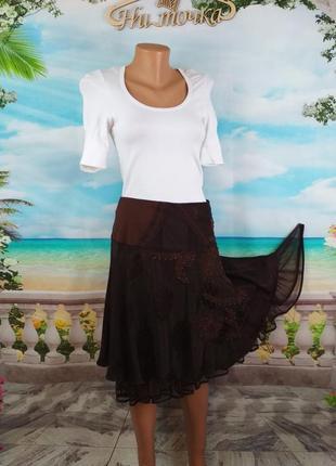 Красивая расклешенная юбка на подкладке 48-50р