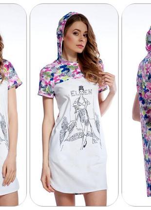 """Оригинальное стильное платье-туника с бабочками """"ellen""""."""