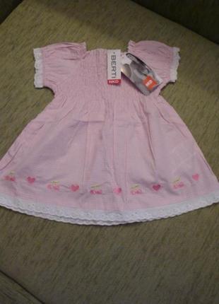 Новое платье nkd р-р86.германия