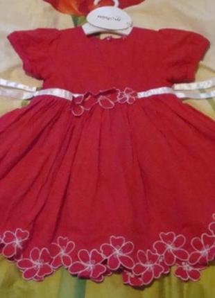 Новое красное платье р-р80(+6)германия