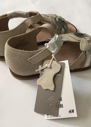 Замшевые сандалии h&m premium quality 30 размер5 фото
