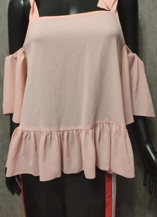 Шыкарная персиковая блузка