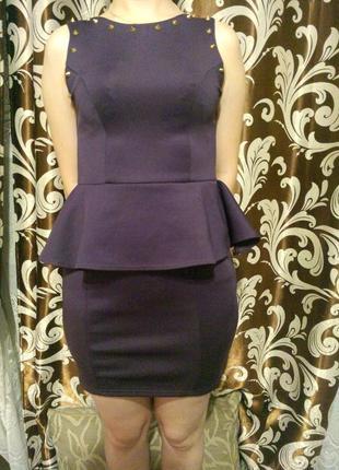 Плаття платье сукня с баской missguided