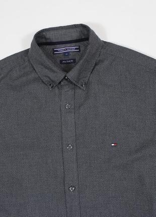 Четкая оригинальная рубашка в мелкий точечный мульти-принт от tommy hilfiger
