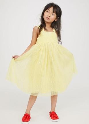 Блестящее платье h&m 2-3y (98 cm)