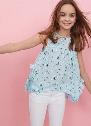 Жатая блузка h&m 14y (170см)
