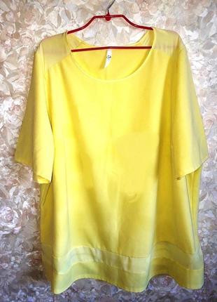 Яркая блуза с шифоном супер ботал размер 28