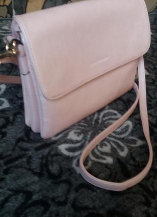 Перламутрово-розовая сумочка1 фото