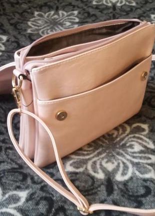 Перламутрово-розовая сумочка5 фото