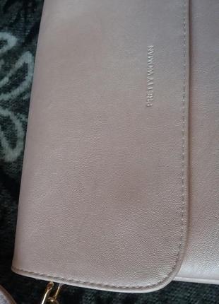 Перламутрово-розовая сумочка6 фото