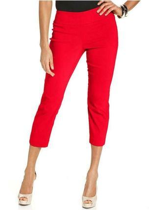 Новые,красные капри,укорочён штаны,брюки,колоты,хлопок, marks & spencer