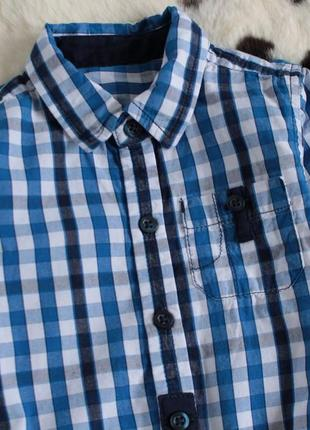 Рубашка-боди в клетку2 фото