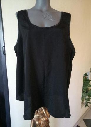 Легкая летняя блуза,майка,топ большого размера