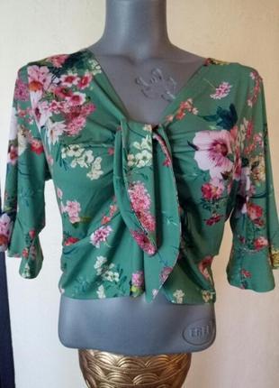 Короткая блуза,кроп-топ,на возможно высокий рост,батал