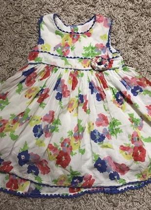Детское платье сарафан цветочный принт нарядное