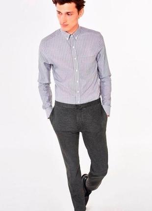 Фирменная хлопковая рубашка в полоску от gant