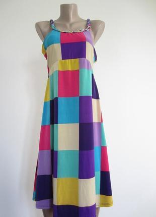 Яркое платье, сарафан (польша).