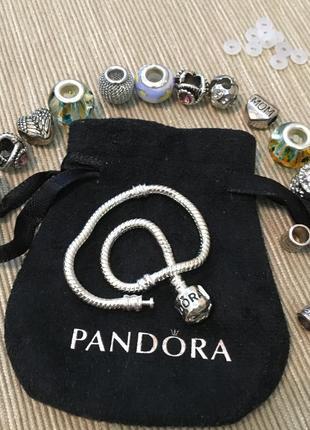 Pandora, браслет с шармами