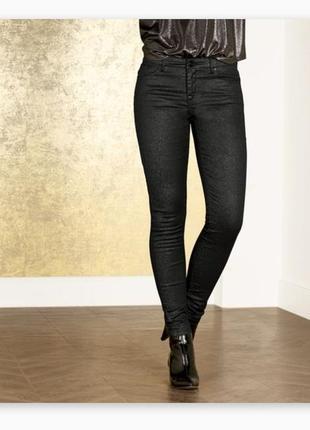 Штаны, джинсы скинни с блёстками  esmara