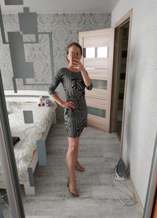 Лёгкое красивое платье в принт