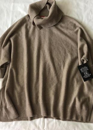 Кашемировый уютный оверсайз свитер. м-l. кашемир 100%