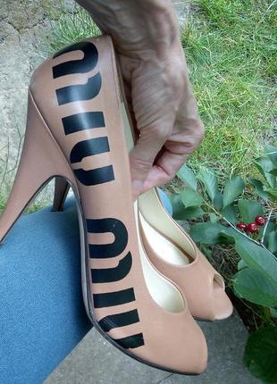 Miu miu 38,5 туфли летние