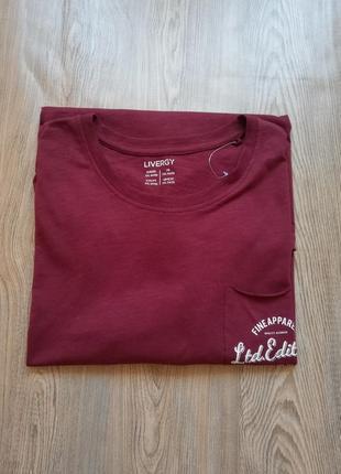 Хлопковая футболка большой размер livergy 3xl