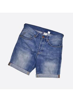 Divided h&m 28 / мужские джинсовые шорты с принтом