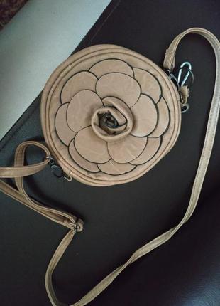 Маленькая сумка, клатч, сумка цветок