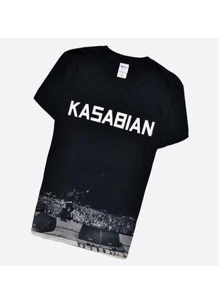 Kasabian s / мужская чёрная футболка с принтом