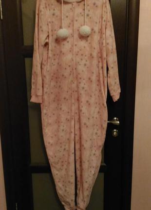 Кигуруми/ пижама george, комбинезон для дома, тёплый, размер xl, на высокий рост