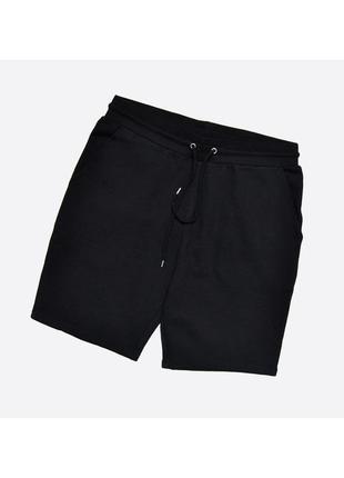 Asos l slim / новые мужские чёрные трикотажные шорты без начёса